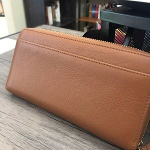 Bags - Lily jade Camel wallet with strap- blue lining